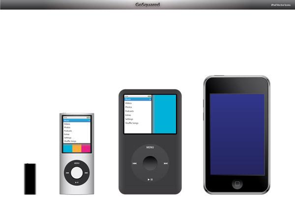 iPods набор векторных материалов