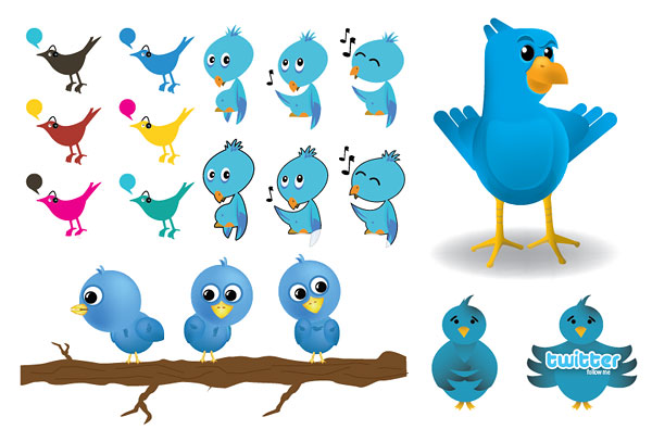Material de imagen vectorial de Twitter