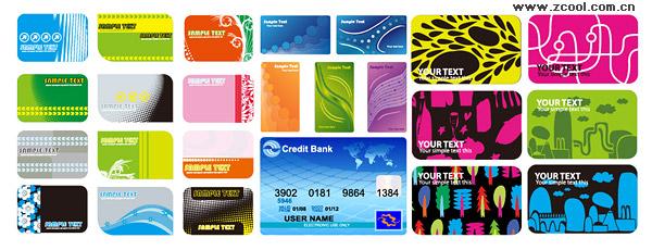 4 устанавливает визитной карточки шаблон векторного материала