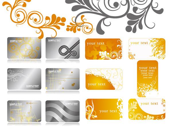 2 背景パターン カードのテンプレート ベクトルを設定します。