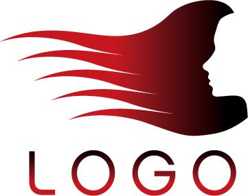 Salones de vectores logo de material de plantilla