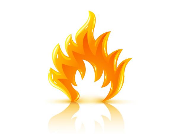 Three-dimensional flame vector material
