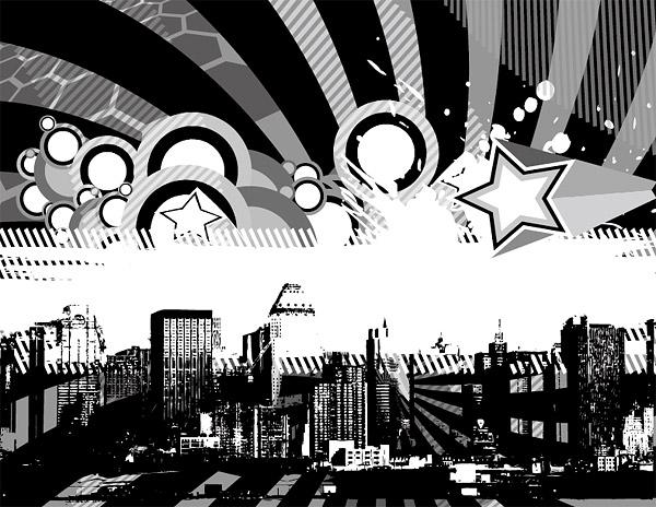 Вектор красочные метрополии материал