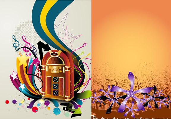 illustration de matériau vecteur de style rétro