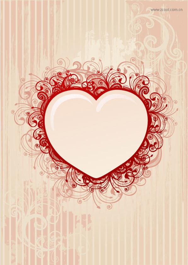 Matériau de vecteur de motif en forme de cœur