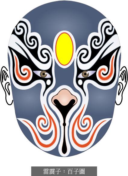 Máscara de ópera de Beijing-1