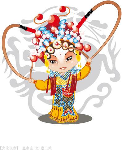 Q versión de la ópera de Pekín personajes-4