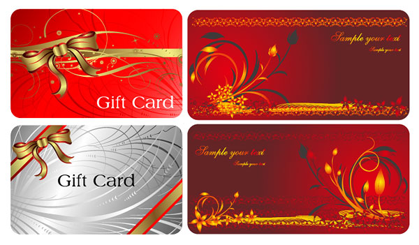 Vector de tarjetas de regalo