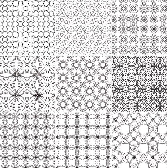 Material de azulejo de padrão de fundo vector continental