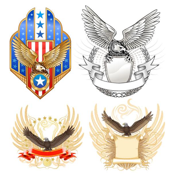Matériau de bouclier vecteur Eagle