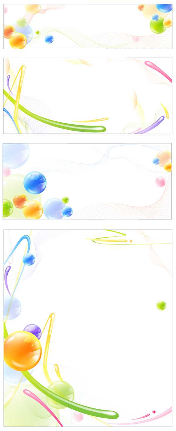 Líneas dinámicas de bola de cristal de material de vectores