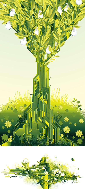 Verde tema Vector