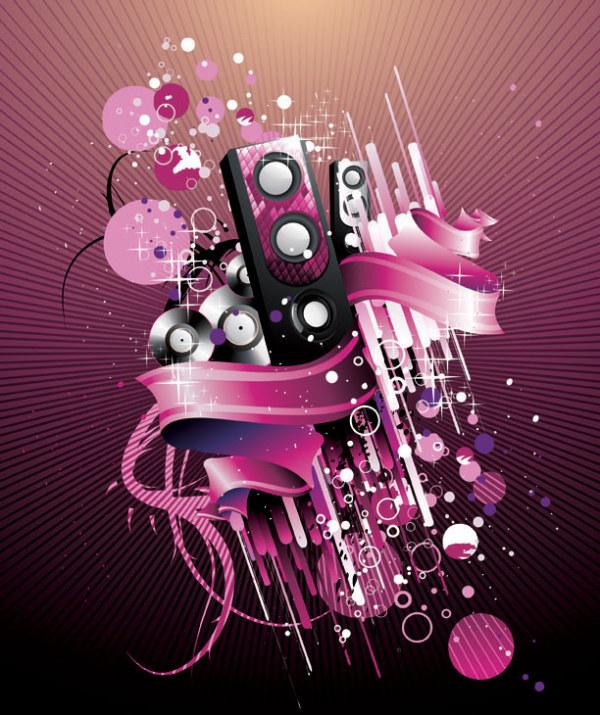 orateurs disco rétro, musique