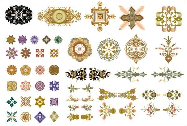 中国風のパターン ベクトル材料