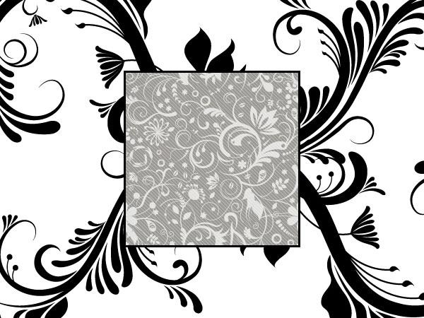 黒と白のファッション パターン ベクトル