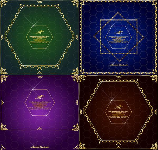 Panal, vector de frontera de encaje de diamante