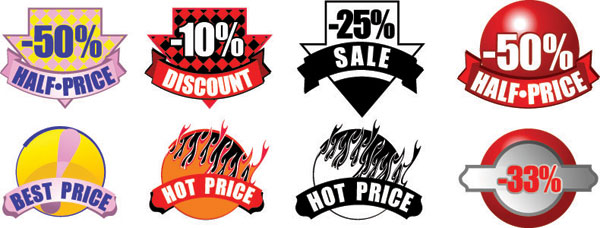 Sale Discount Vector Icons