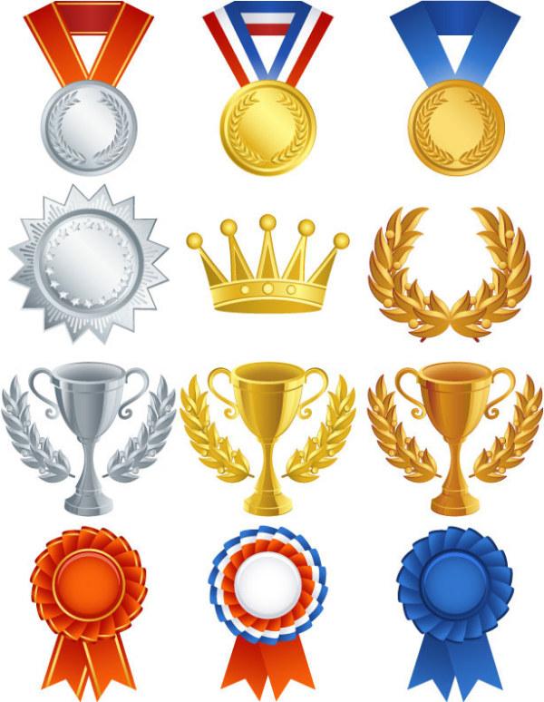 Medalla Trofeo medallas vector