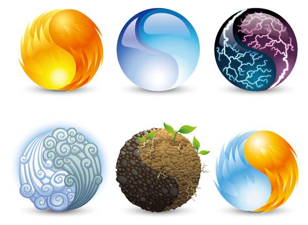 Elementos de gráficos vectoriales de naturaleza