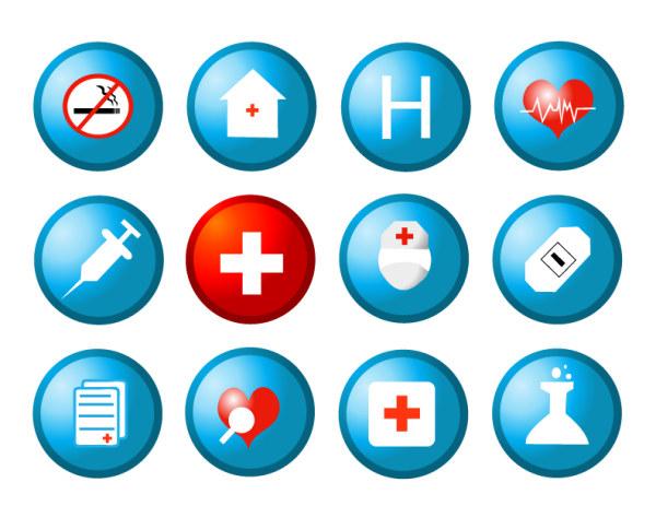 Material de vetor de ícone médicos e de saúde