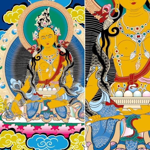 Sumber daya keuangan Tienmu Dunhuang Buddha vektor