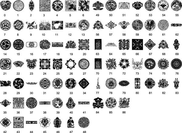 Top Les schémas traditionnels de mots-clés de matériau traditionnel  BD89