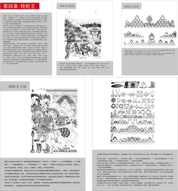 Artefactos budistas diagrama de vectores