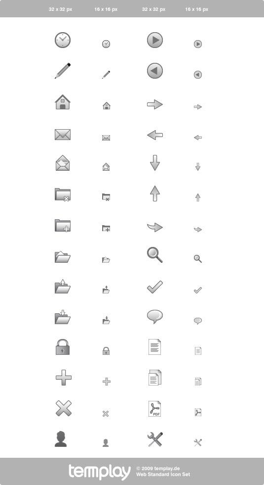 Icono de diseño de Web gris común