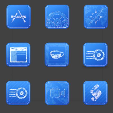 Blue Print icônes png