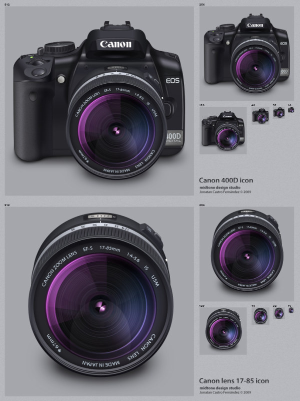 Canon D 400 Lens(PNG+Icon)