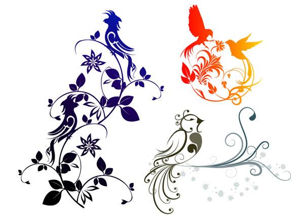 絶妙な鳥パターン ベクトルの組み合わせ