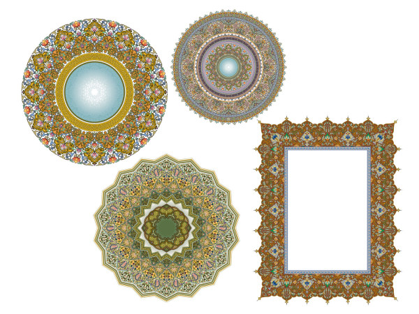 4 Exquisite klassische Spitze Muster-6