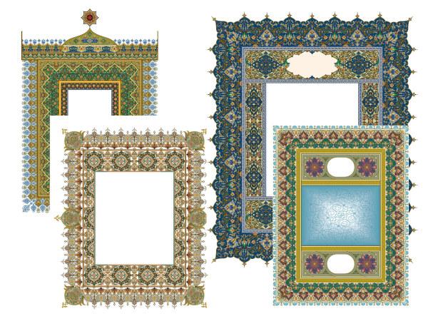 Rendas clássico requintado 4 padrões-2.