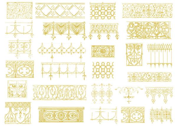ヨーロッパ風レース ベクトル材料