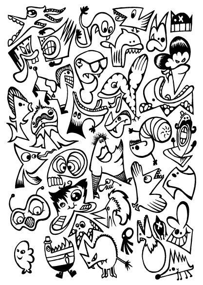 Вектор мультфильма Monster Crazy