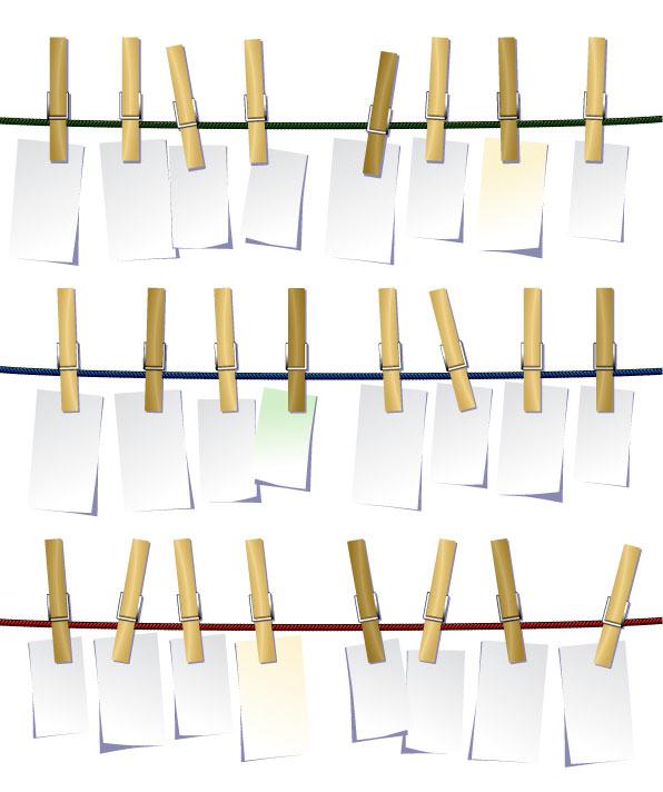 Деревянные клипа белый вектор