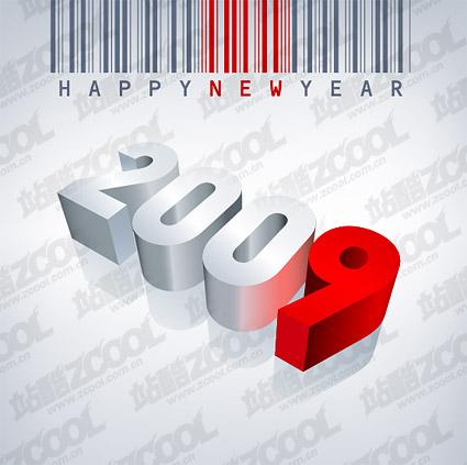 Código de barras, feliz año nuevo