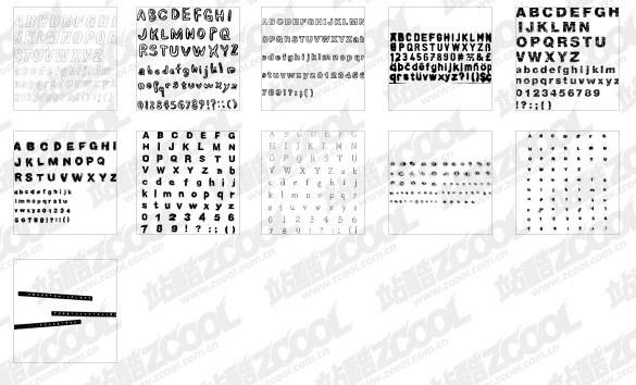 9 en particulier le matériel de vecteur alphabet anglais