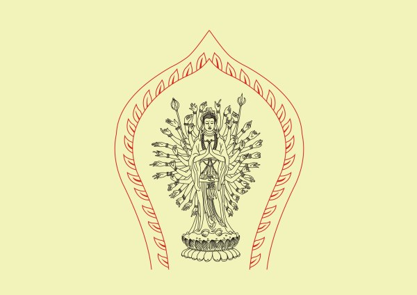 ภาพวาดลายเส้น Avalokitesvara