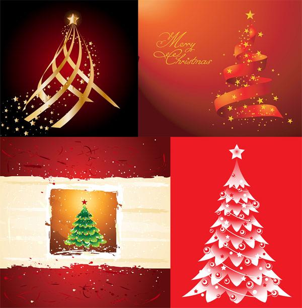 คริสต์มาสต้นไม้ เวกเตอร์ดาว