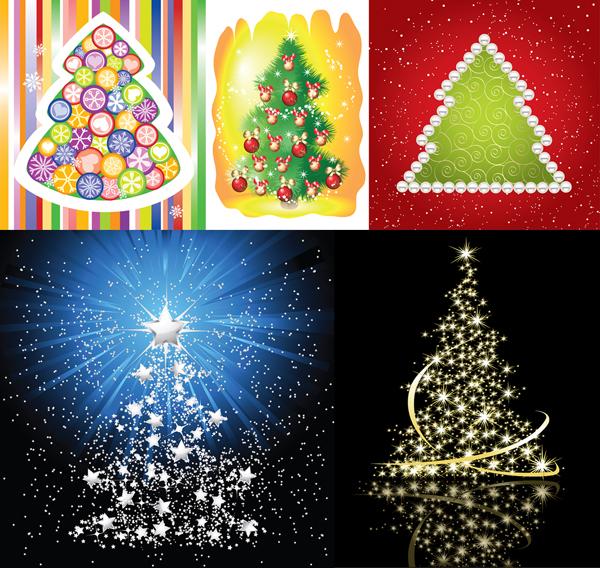 Vector de exquisito árbol de Navidad