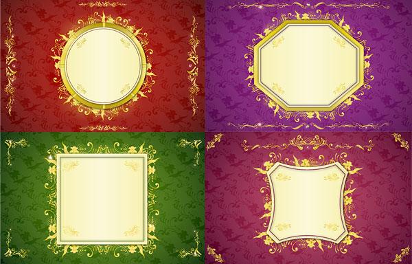 ปัดเศษ รูปสี่เหลี่ยมรูปแบบ lace เวกเตอร์