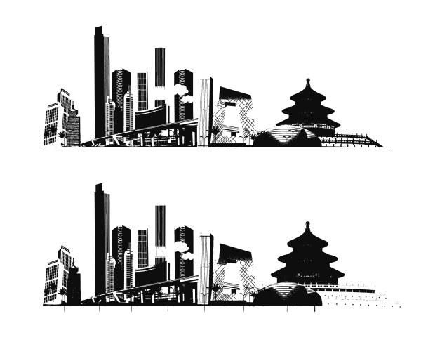 Пекин векторного материала