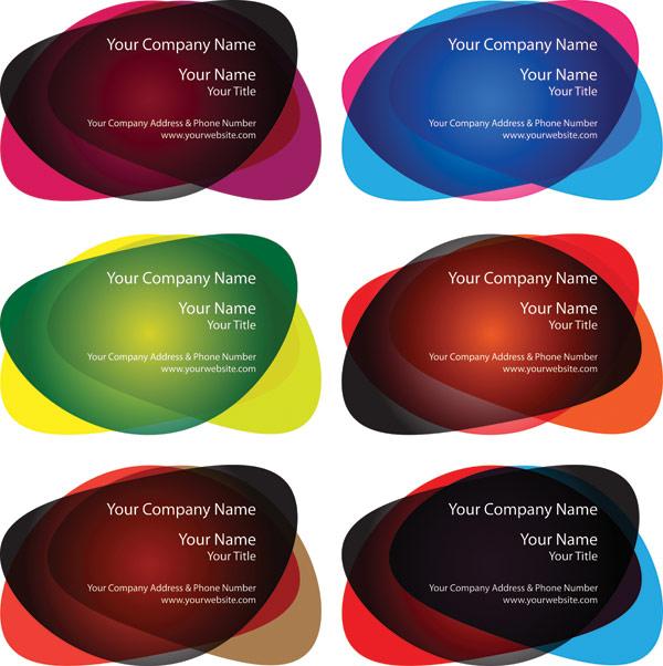 Bulat bentuk bahan vektor template kartu