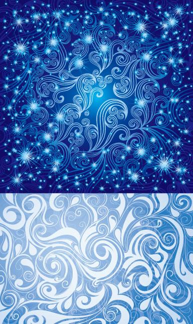 かなり青いパターン ベクトル