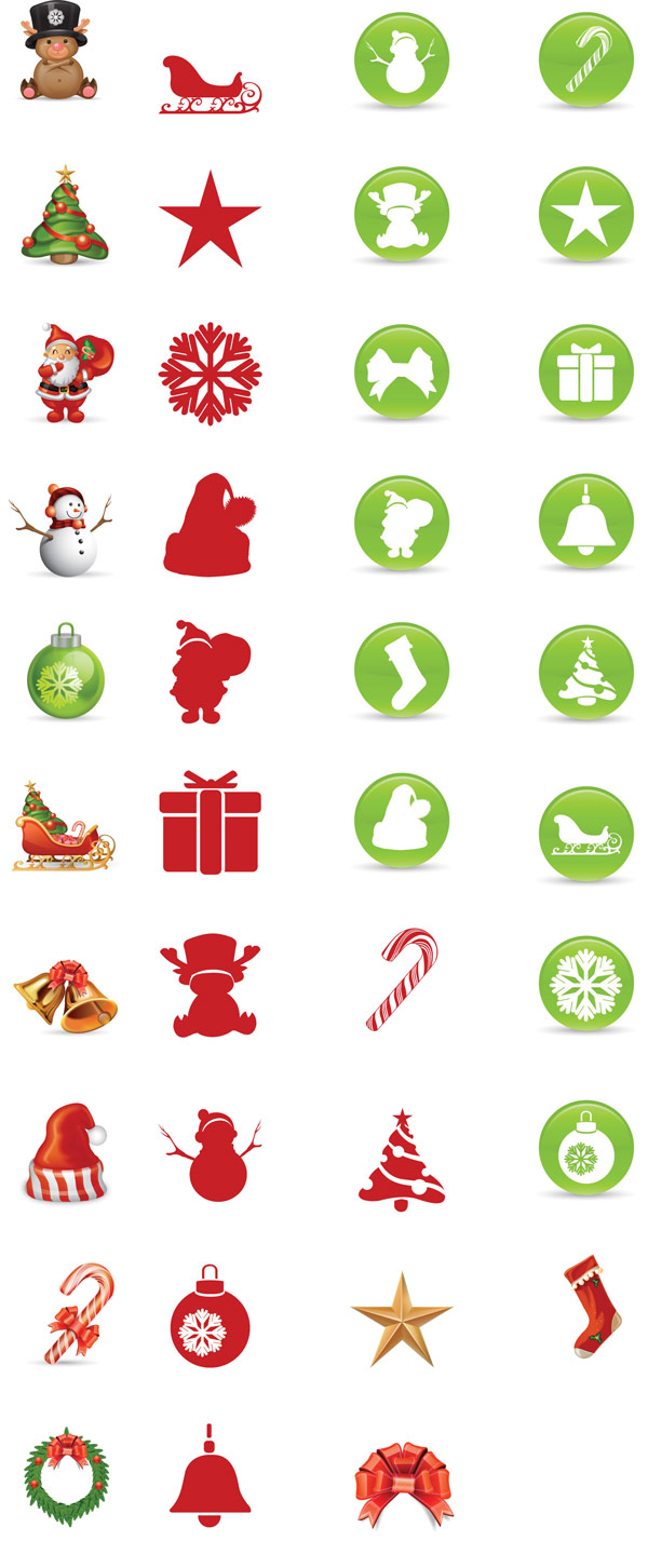 Natal ícones vetoriais