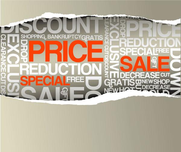 紙涙販売価格ベクトル