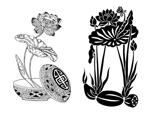 Lotus, lotus корень вектор