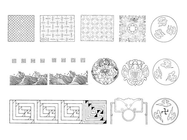 패턴, 파도, 파도, 구름 벡터