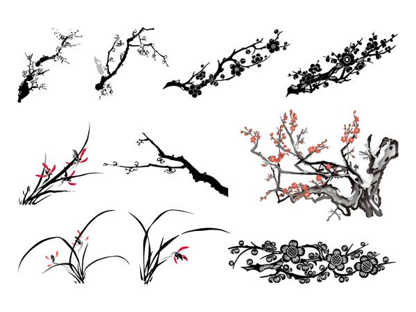 Vecteur de Plum orchidée